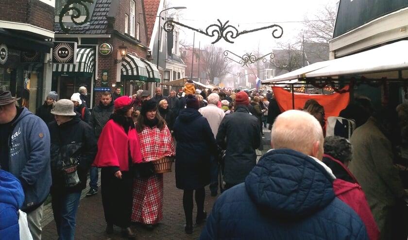 Gezellige drukte op een vorige Dickensmarkt.