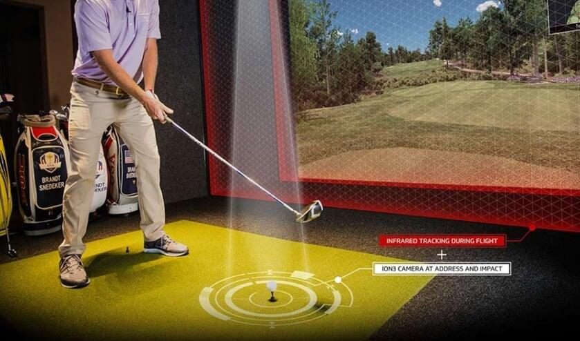 Perfect om te werken met de simulatoren bij Indoor Roosendaal. De golfer krijgt alle informatie over zijn swing.