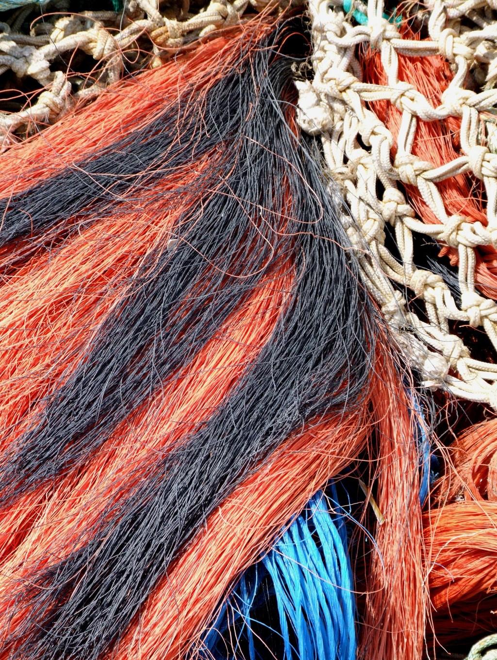 Detailopname van visnetten. (Foto: Gerard Eilander) © rodi