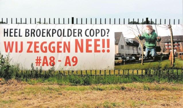 Bewoners van de Broekpolder willen daarentegen niets weten van de A8-A9.