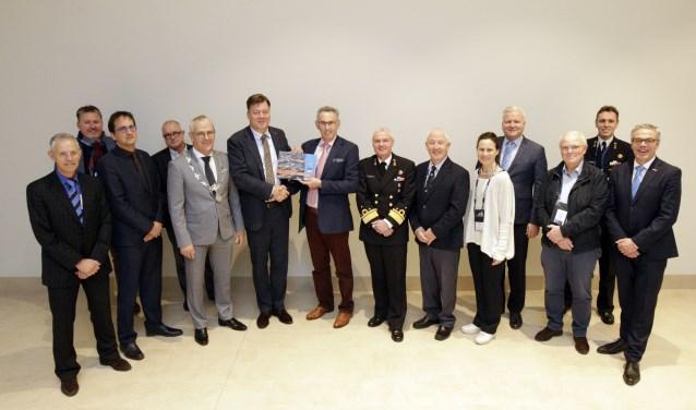 Officiële overhandiging bidbook Sail Den Helder d.d. 6 december 2019 in Antwerpen.