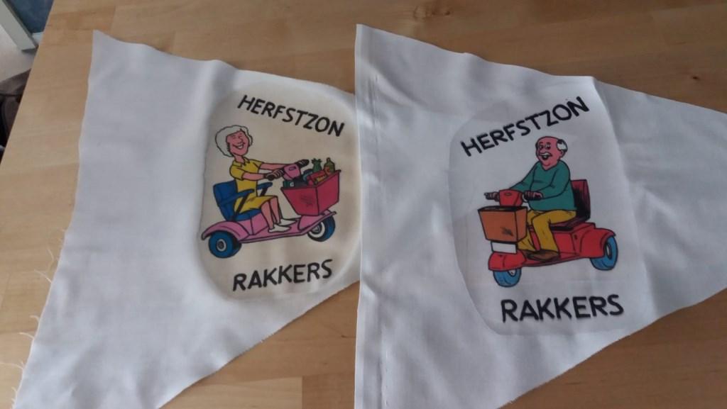 Zelfgemaakte vlaggetjes.  © rodi