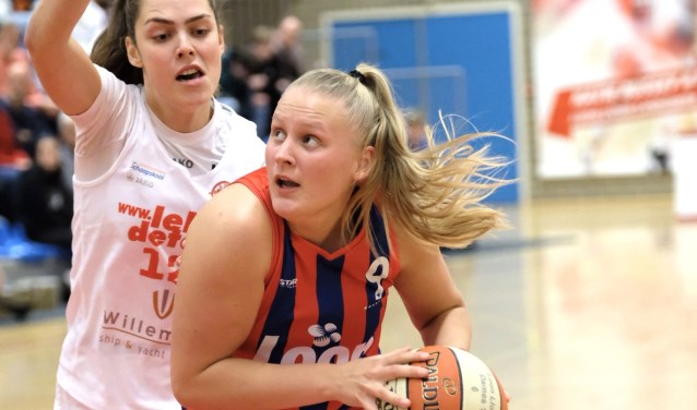 Lady of the game Lies van Straaten in actie.