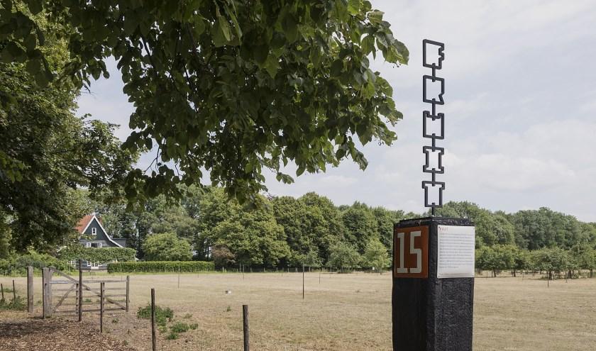 De Verhalenpaal bij de Olmenhorst die al eerder een plekje kreeg.