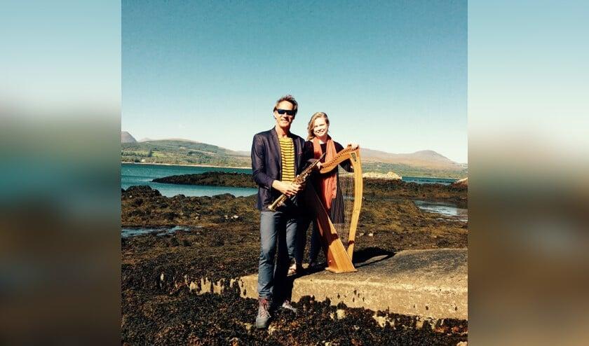 André van der Hoff speelt zaterdag 14 december samen met Aisling Urwin in de kerk in West-Graftdijk