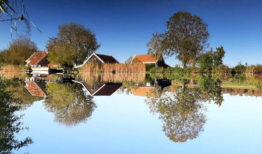 De Vijfhuizerdijk als een zoekplaat. Vind de eend! PS: bekijk de gehele foto onderaan het artikel.
