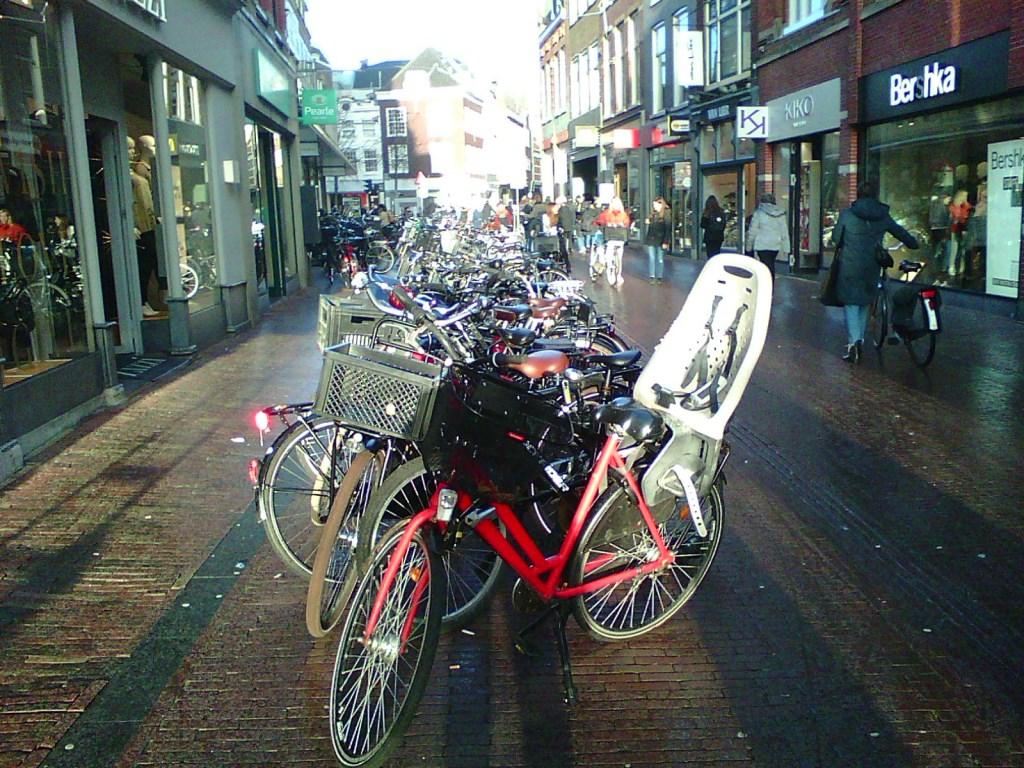 Netjes geparkeerd maar toch horen de fietsen hier niet thuis.  © rodi