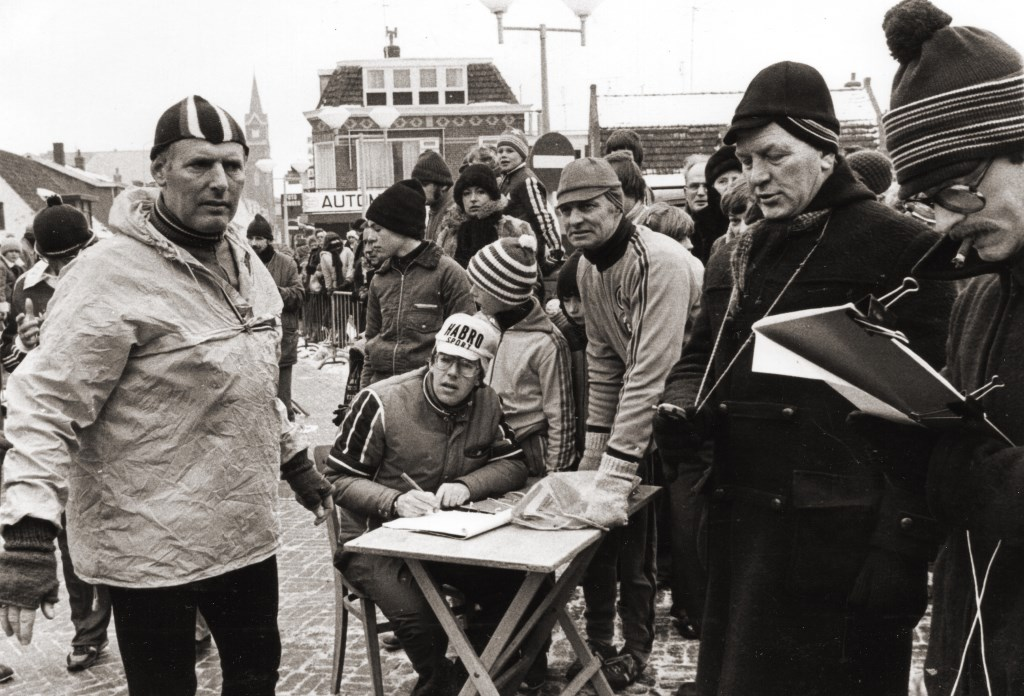 Ad Apeldoorn van de plaatselijke Rabobank (links) sponsorde begin jaren zeventig Le Champion.  © rodi
