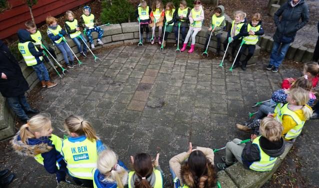 Kinderen in actie tegen zwerfvuil