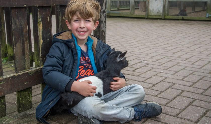 Aai gerust een geitje in De Helderse Vallei.