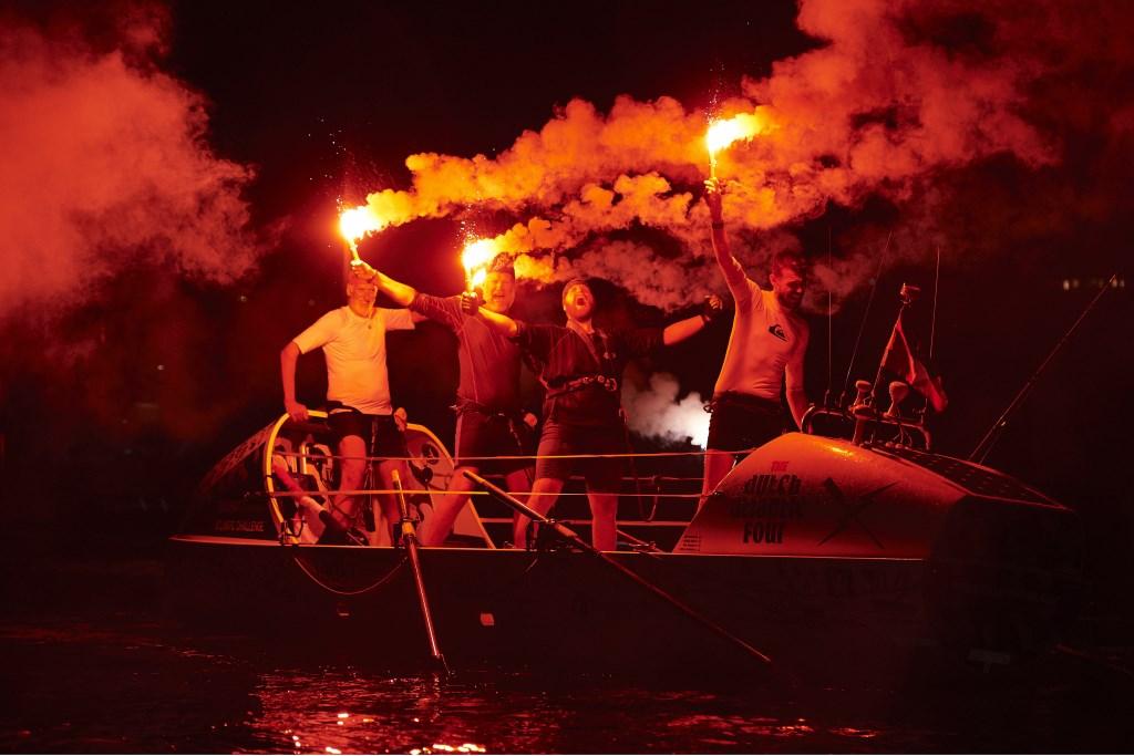 Vuurwerk voor de kampioenen.  © rodi