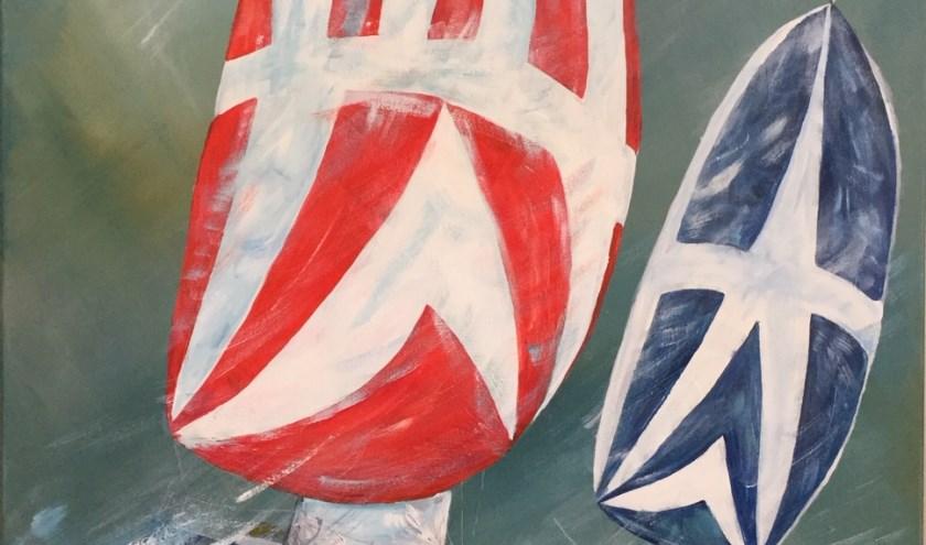 De expositie in de Cultuurschuur heeft als thema: Met de wind in de zeilen'.