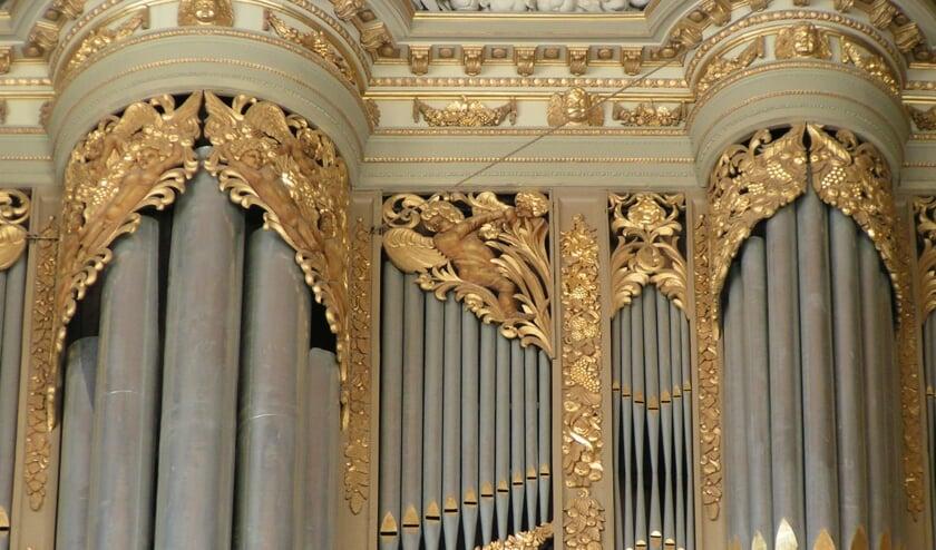 Detailfoto Grote Kerk.