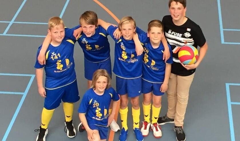 De volleyballers van De Korenaar.