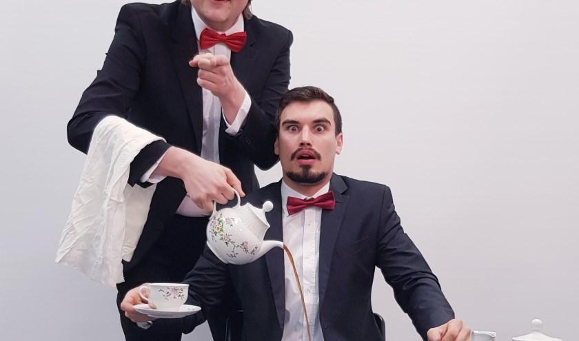 Brian en Maarten met koffie