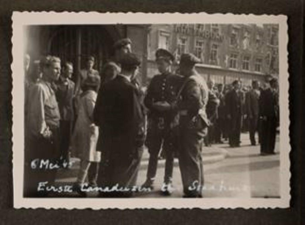De eerste Canadezen in Haarlem 1945.  © rodi