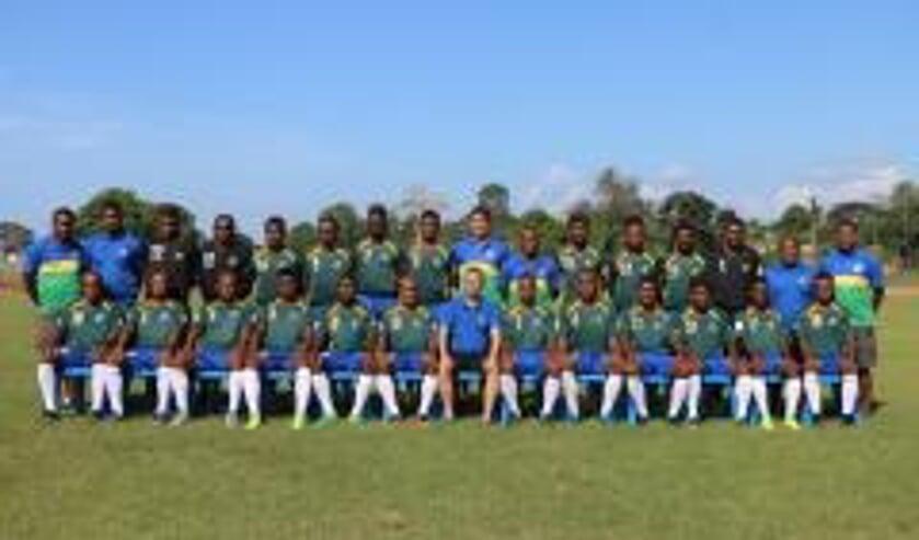 Het nationaal team van de Salomonseilanden.