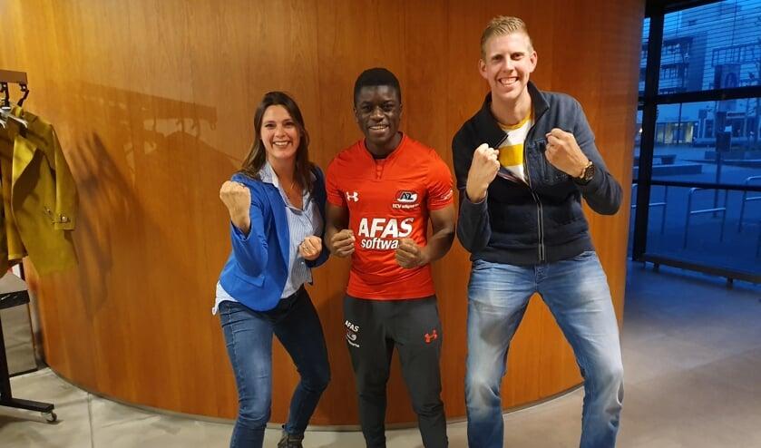 Vlnr. Dorothé Plas, Aristote Ndunu en Patrick van Erve zijn klaar voor LevelUp!