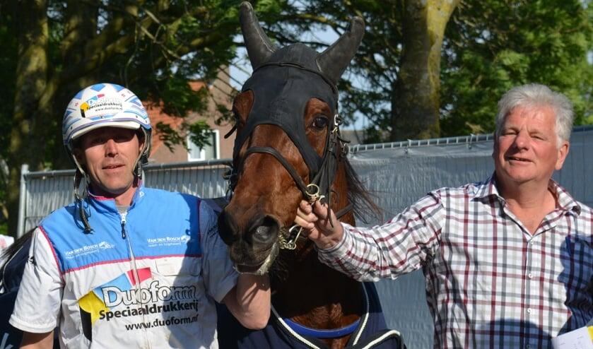 Vorig jaar won John Dekker met Obelix West de kortebaandraverij in Venhuizen.