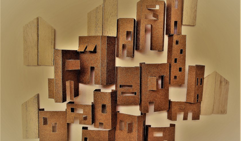 Een van de werken te zien op de pinksterexpositie.