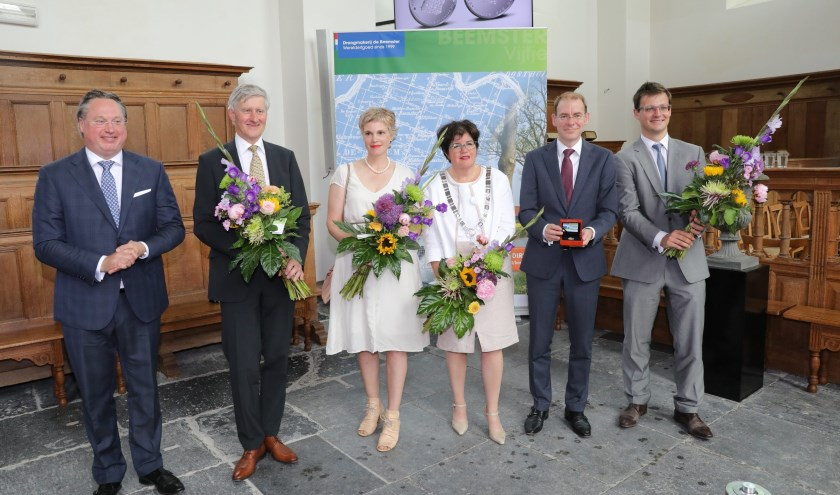 V.l.n.r: Stephan Satijn, Luc Kohsiek, Katrin Korfmann, Joyce van Beek, Menno Snel, Vincent van Hecke