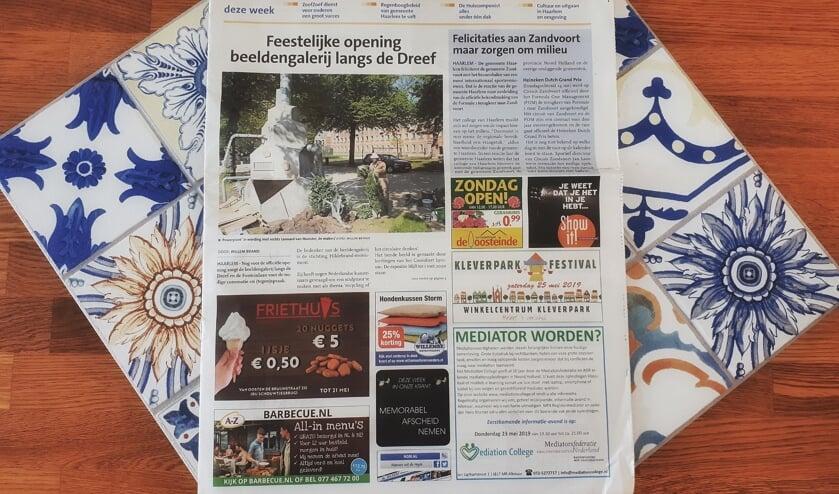 Haarlems Nieuwsblad is zowel op papier als digitaal te lezen.