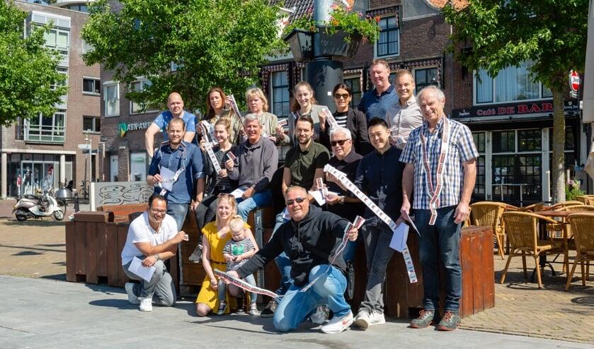 De gezamenlijke ondernemers van BIZ Koemarkt hebben ervoor gezorgd dat het plein er fleurig bij staat.