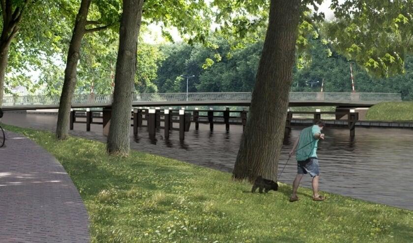 Hoe de nieuwe brug eruit komt te zien.
