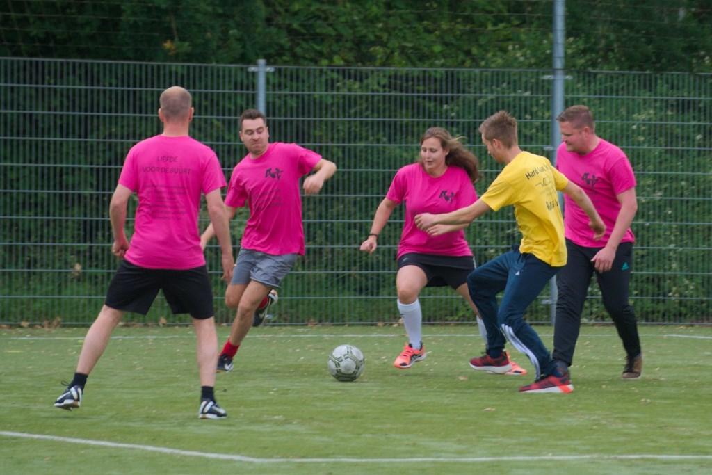 Meerkamp-teams gingen de strijd met elkaar aan op het veld (Foto: Rudolf Reeker                       ) © rodi