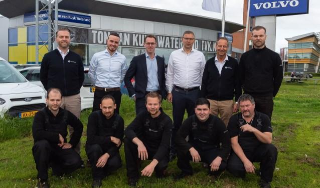 Het team van Volvo-dealer Ton van Kuyk.