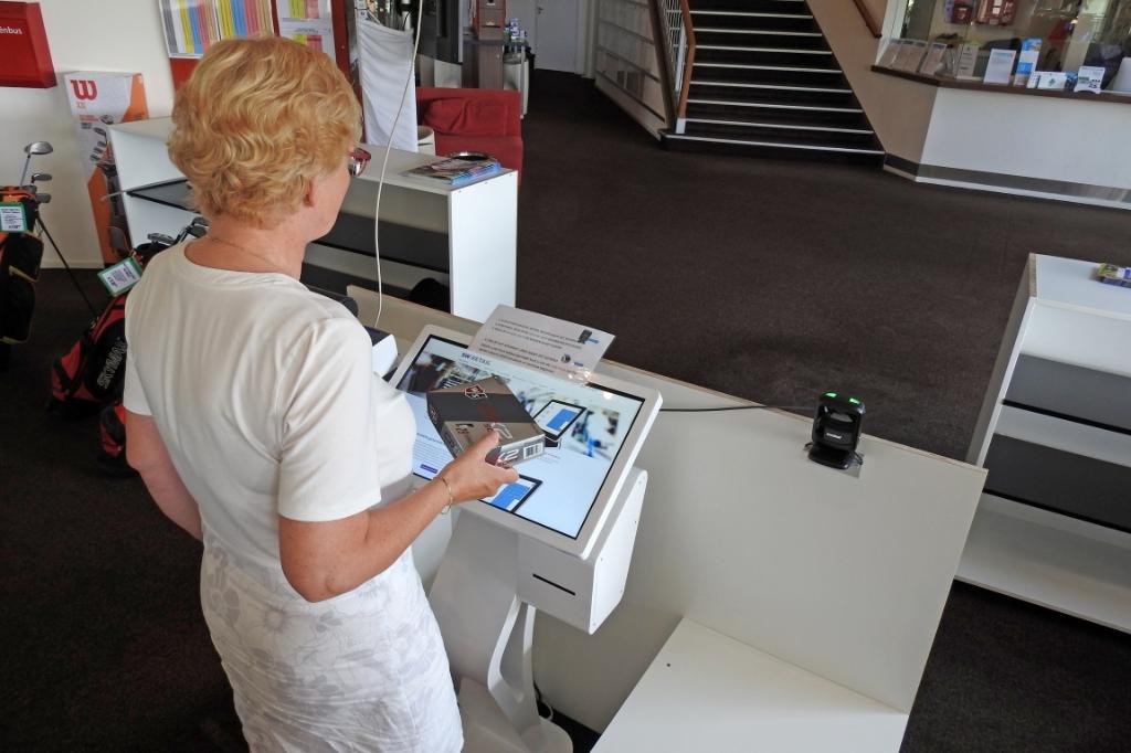 Zelf afrekenen in de shop van Rob Roest. Makkelijk, en zeker coronaproof. (Foto: ) © rodi