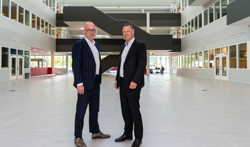 Martijn Kool van het Regio College (links) en Arjan Vethman van het Horizon College.