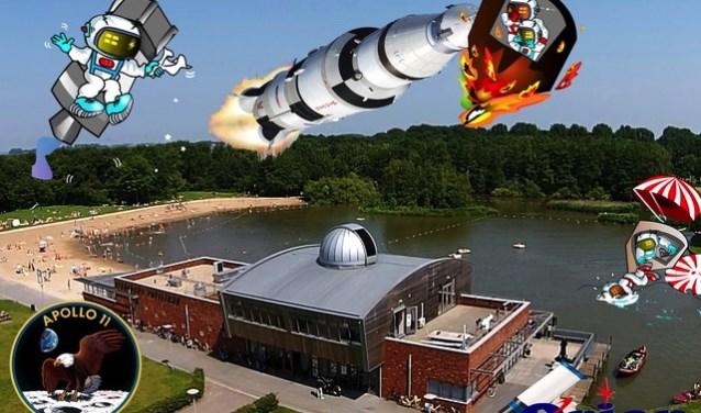 Volkssterrenwacht Orion is 20 en 21 juli van open voor publiek ter gelegenheid van het project Apollo 11.