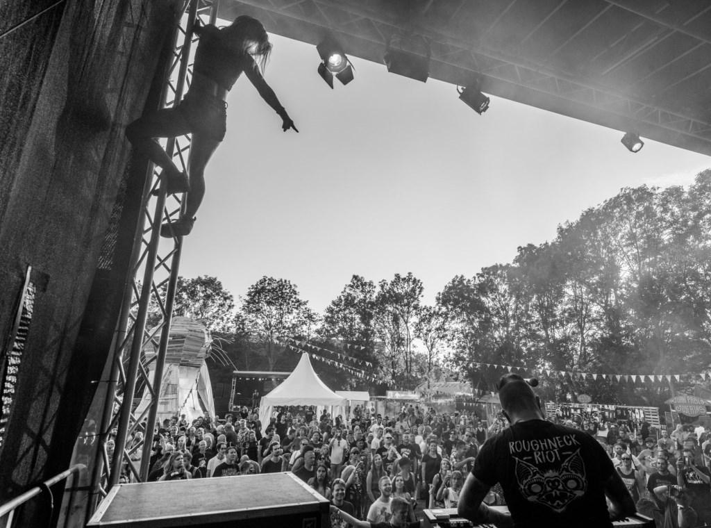 Spektakel tijdens Haltpop vorig jaar. (Foto: Lars Bezemer) © rodi
