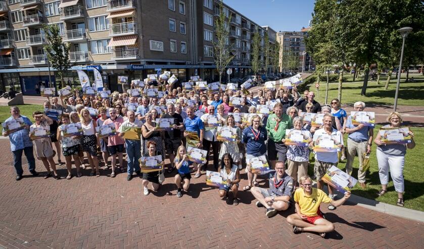 Vele verenigingen waren aanwezig tijdens de feestelijke finalemiddag van de Rabobank Clubkas Campagne op het Julianaplein
