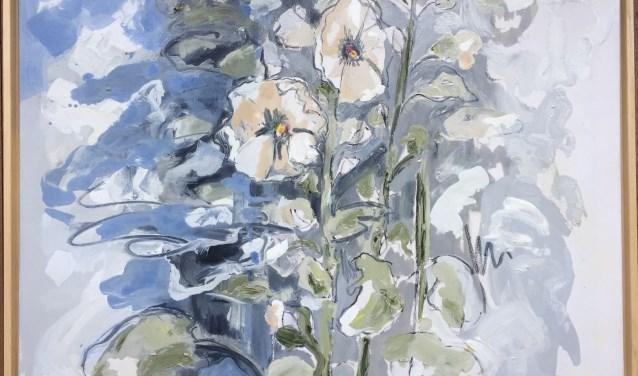 'Voor het blauwe huis'; werk van Sefanja Nods.