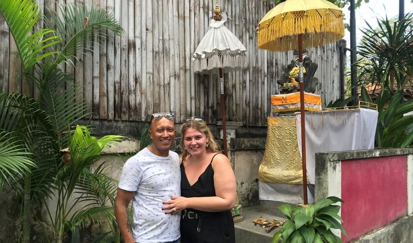 Ferdie en Zahra op Bali.