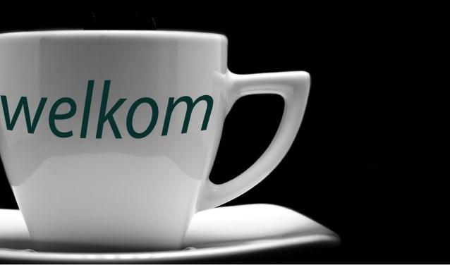 Gezellig een kopje koffie drinken in Het Lichtbaken in Hoorn.