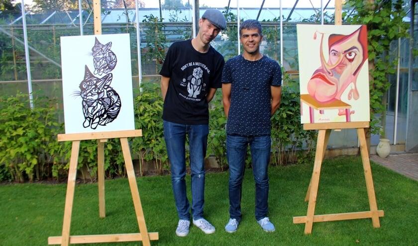 De jonge kunstenaars Mandak Azizi en Milan Nowak exposeren bij Kunst in de Kas.