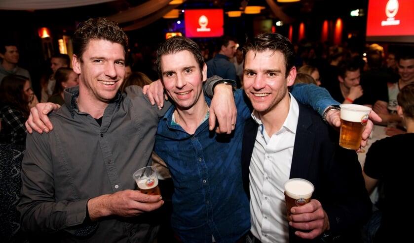 Van links naar rechts René, Nico en John