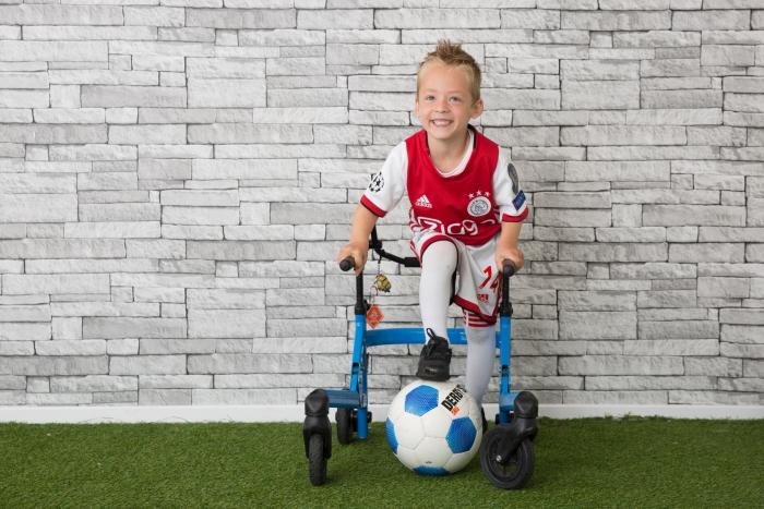 De zoon van Michiel en Ilse de Valk, Mirko, heeft CP.