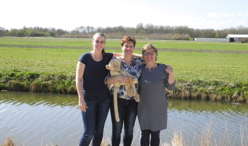 De teamcaptains van Team Job: Esther, Annette en Irene (v.l.n.r.).