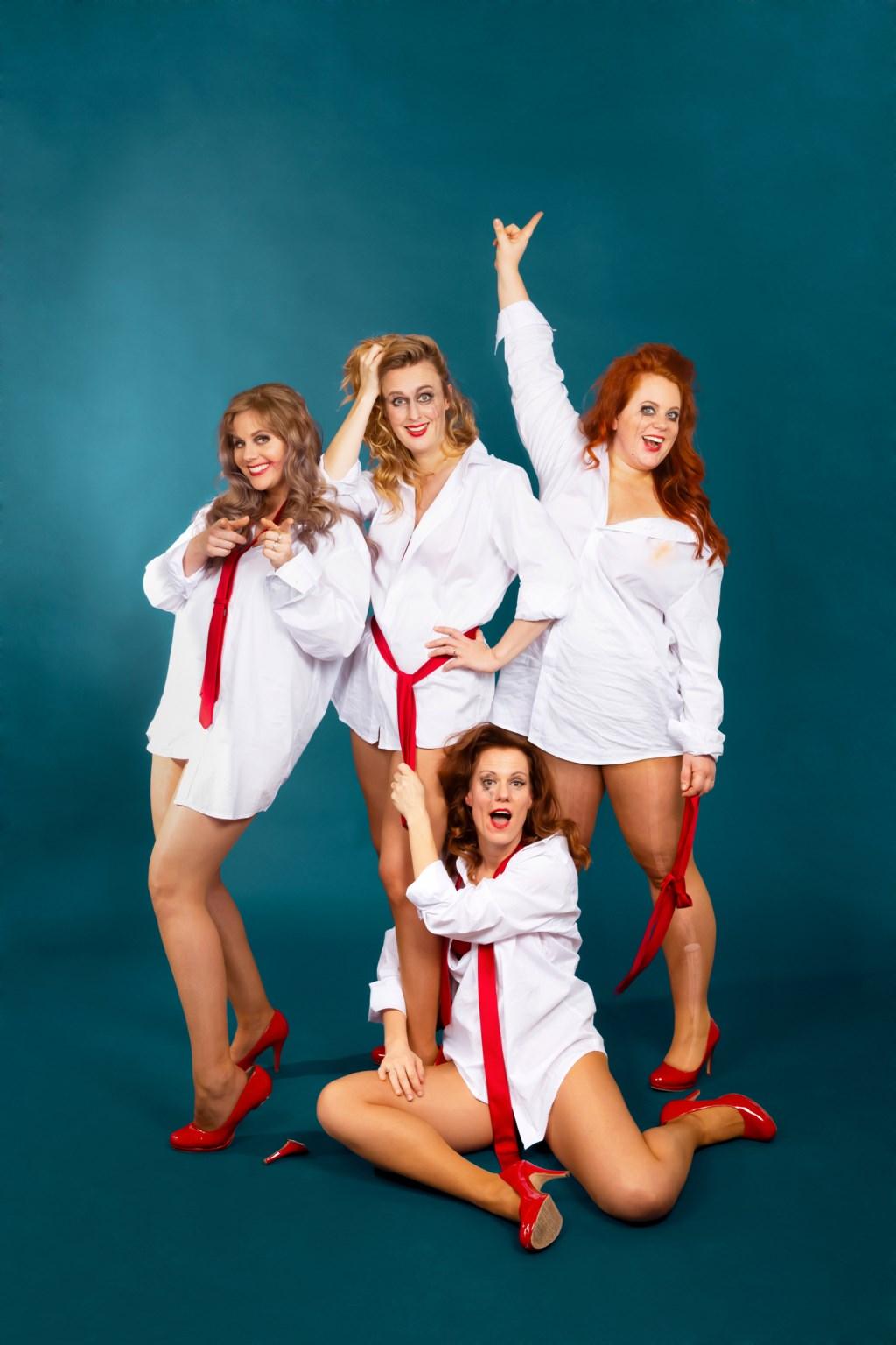 De Meiden van LOS spelen 'Lusten of lasten'. (Foto: EVA BROEKEMA) © rodi