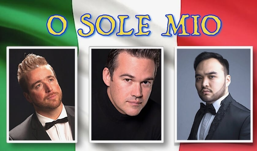 De drie tenoren die naar Cool komen zijn vlnr. Willem Van der Heyden, Adrian Strooper en Kudai Bergen.