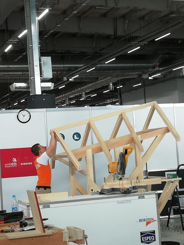 Robin Berkhout in actie tijdens WorldSkills.    © rodi