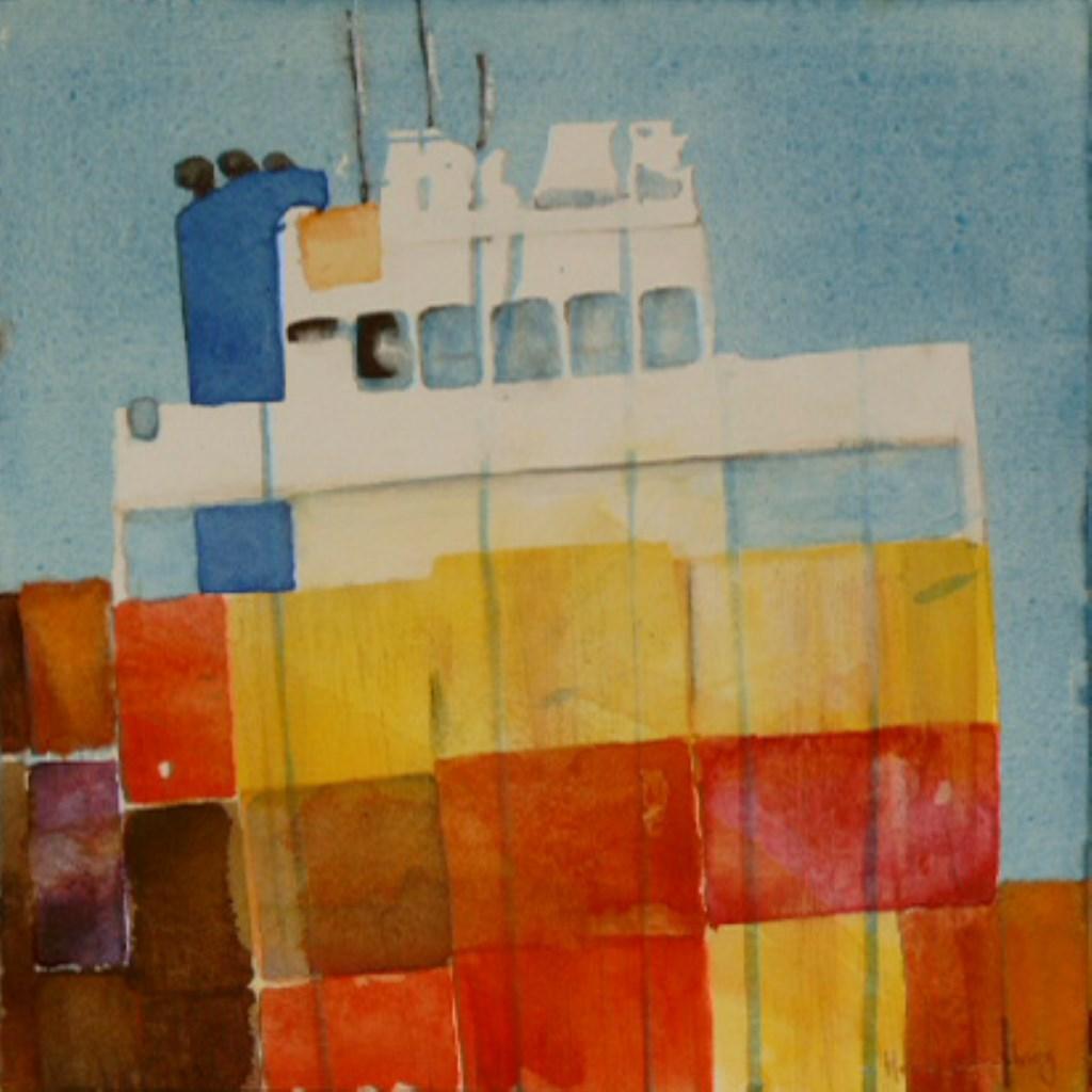 Zijn schilderijen over de scheepvaart.  © rodi