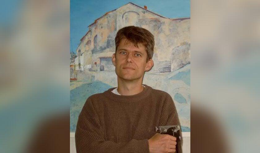 Kunstenaar Henk Zwanenburg.