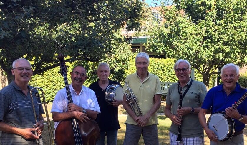 De Flowertown Jazzband verzorgt drie optredens tijdens Haarlem Jazz & More.