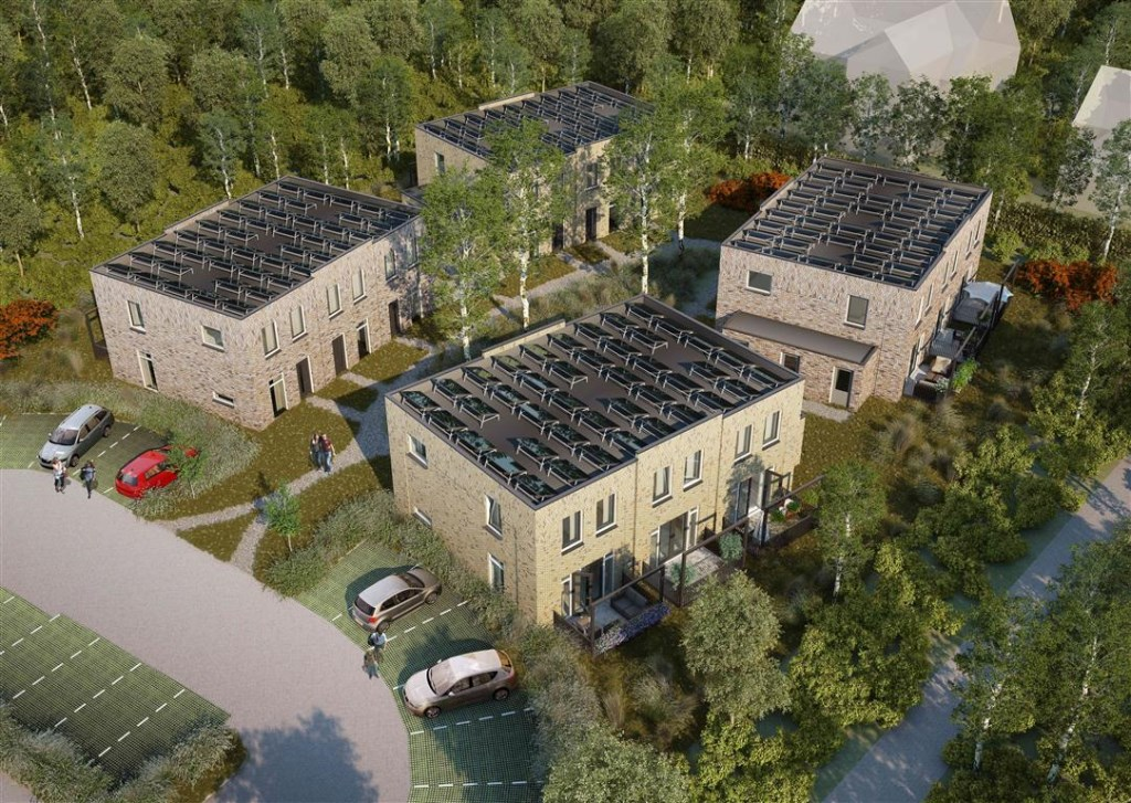 Kennemer Wonen is begonnen met de bouw van twaalf woningen aan de Verspyckweg. aangeleverde foto © rodi