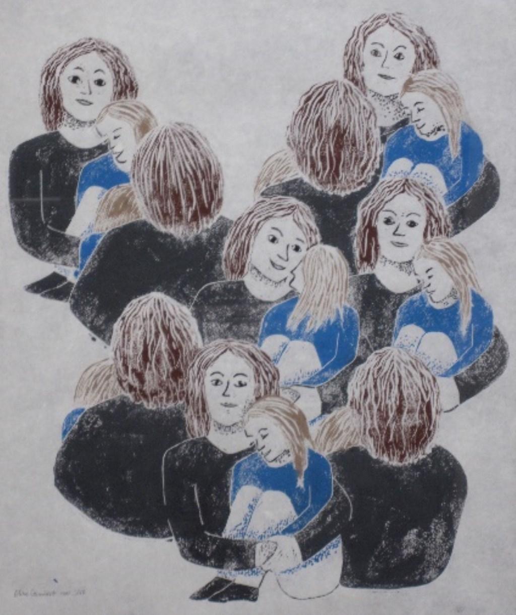 'Omgeven', een werk van Eline Gumbert.   © rodi